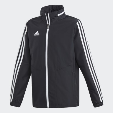 Kids Gym & Training Black Tiro 19 All-Weather Jacket