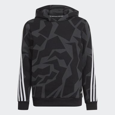 Kinder Sportswear Future Icons 3-Streifen Graphic Hoodie Grau
