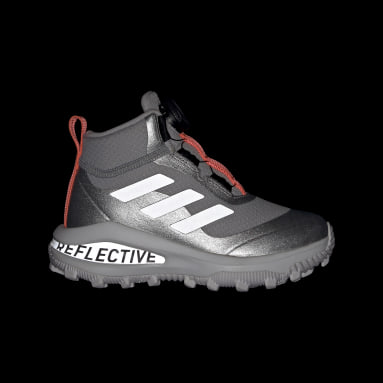 Kids Running Silver Fortarun Freelock All Terrain Running Shoes