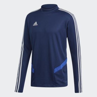 Mænd Fitness Og Træning Blå Tiro 19 træningstrøje