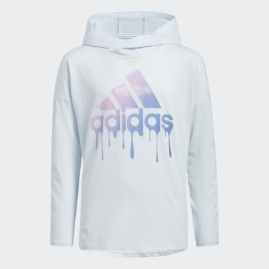 Youth Training Blue Drip Badge of Sport Hooded Tee