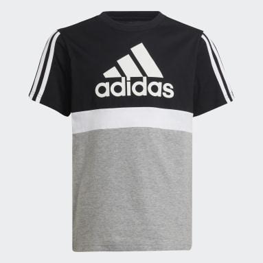 T-shirt adidas Essentials Colorblock Nero Ragazzo Sportswear