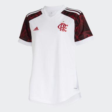 Camisa 2 CR Flamengo 21 Branco Mulher Futebol