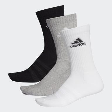 Trail Running Cushioned Crew Socken, 3 Paar Grau