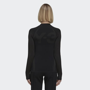 Y-3 Classic Seamless Knit Long Sleeve Tee Nero Donna Y-3