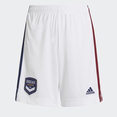 Youth 8-16 Years Football White FC Girondins de Bordeaux 21/22 Away Shorts