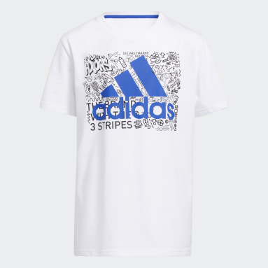 Youth Training White Doodle Badge of Sport Tee