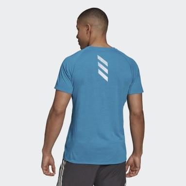 Men Running Turquoise Runner T-Shirt