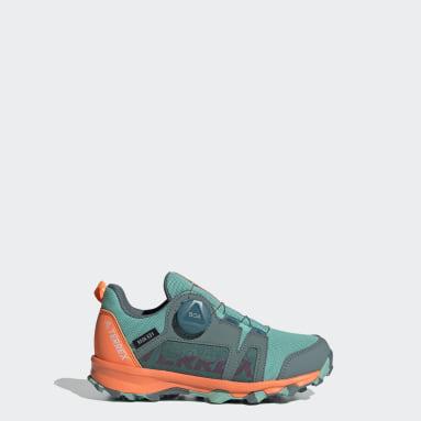 Terrex Agravic Boa RAIN.RDY Hiking Shoes Zielony