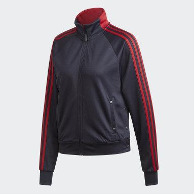 Women Sportswear Blue ID 3-Stripes Snap Track Top