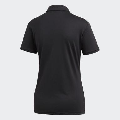 Women's Golf Black Tournament Polo Shirt
