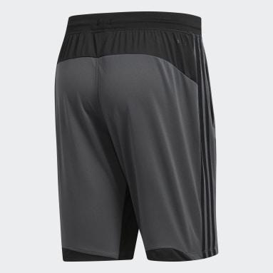 Shorts 4KRFT Sport 3 bandas Gris Hombre Training