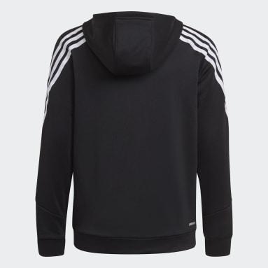 Youth Training Black AEROREADY Primegreen 3-Stripes Full-Zip Hoodie