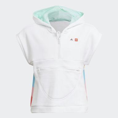 Youth Training White adidas x LEGO® DOTS™ Short Sleeve Hoodie