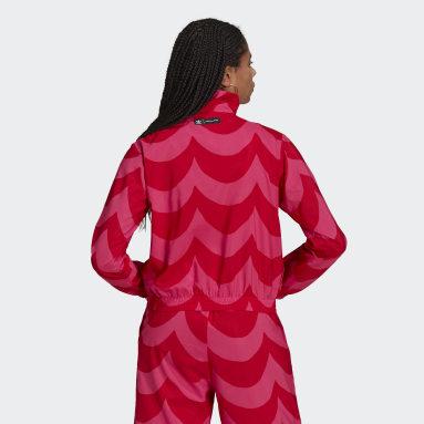 Women Originals Red Marimekko Woven Track Top