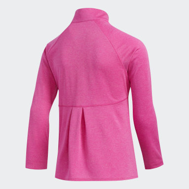 Youth Golf Pink Heathered Knit Jacket