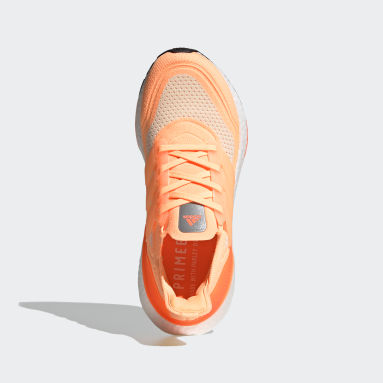 Women Running Orange Ultraboost 21 Shoes