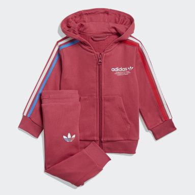 Infants Originals Pink Adicolor Full-Zip Hoodie Set