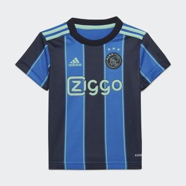 Divisa Baby Away 21/22 Ajax Amsterdam Blu Bambini Calcio