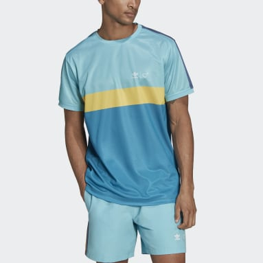 ผู้ชาย Originals สีเทอร์คอยส์ เสื้อยืดพิมพ์ลาย Human Made