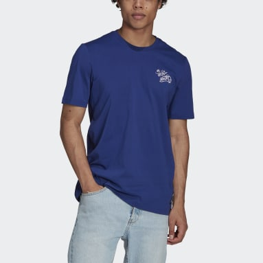 Men's Soccer Blue Real Madrid Graphic Tee