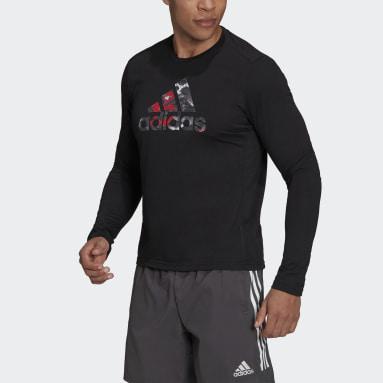 Camiseta manga larga Fast Graphic Negro Hombre Running