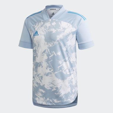 Camiseta Condivo 20 Primeblue Azul Hombre Gimnasio Y Entrenamiento