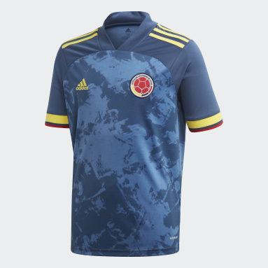 Jongens Voetbal blauw Colombia Uitshirt