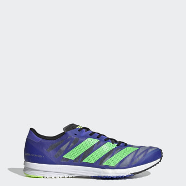 Men Running Blue Adizero Takumi Sen 7 Shoes