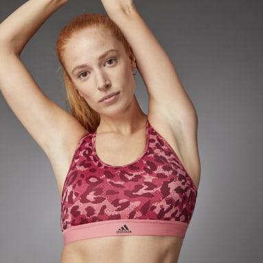 Women Gym & Training Pink Believe This Medium Support Allover Print Bra