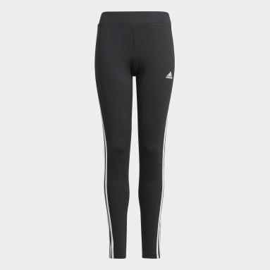 Meisjes Fitness En Training Zwart Designed 2 Move 3-Stripes Legging