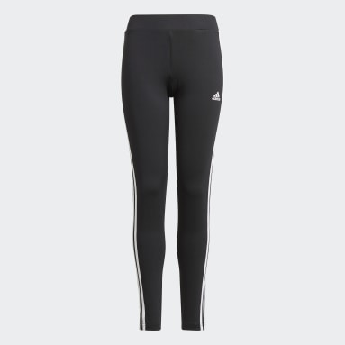 Legging Designed 2 Move 3-Stripes Preto Meninas Training