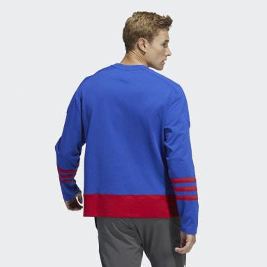 Men's Hockey Blue Rangers Crew Sweater