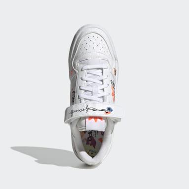 Mädchen Originals Forum Low Schuh Weiß