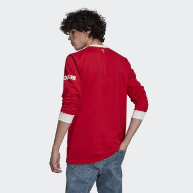 Camiseta manga larga primera equipación Manchester United 21/22 Rojo Hombre Fútbol