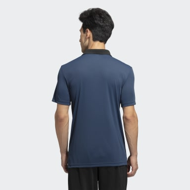 Men Training Blue Polo Shirt