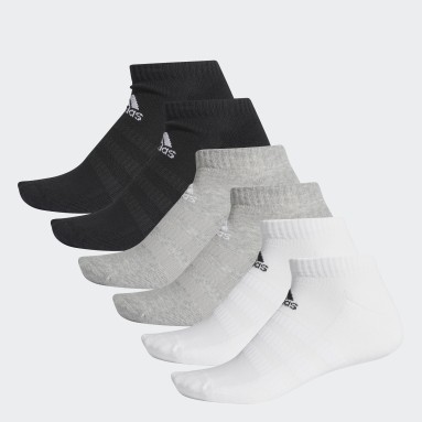 Sports Grå Cushioned Low-Cut sokker, 6 par