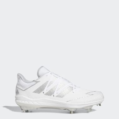 Men's Baseball White Adizero Afterburner 7 Cleats