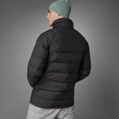 Men's Snowboarding Black Helionic Mid-Length Down Jacket