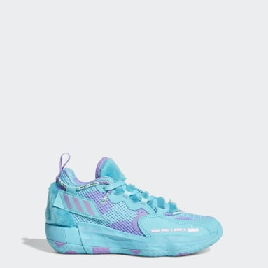 Kids Basketball Turquoise Dame 7 EXTPLY Sulley Shoes