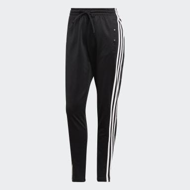 Calças Botões de Mola 3-Stripes ID Preto Mulher Sportswear