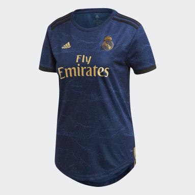 Women Football Blue Real Madrid Away Jersey