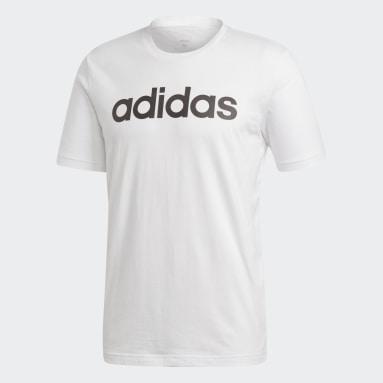 Camiseta Essentials Linear Logo Blanco Hombre Diseño Deportivo