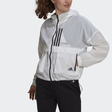 Women Sportswear White adidas Sportswear W.N.D. Windbreaker