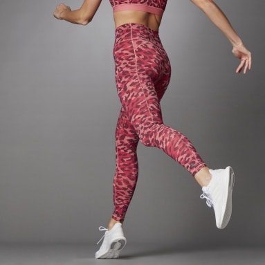 Legging Longa Estampada Believe This Rosa Mulher Training
