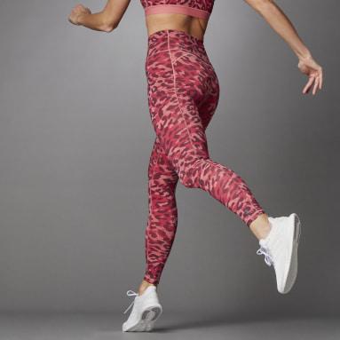 Licras Largas Believe This Estampadas Pretina Alta Rosa Mujer Training