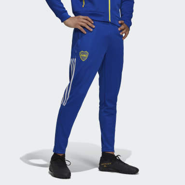 Men Football Blue Boca Juniors Tiro Training Tracksuit Bottoms
