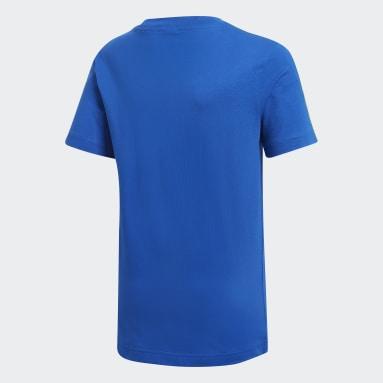 Camiseta Essentials 3 bandas Azul Niño Gimnasio Y Entrenamiento