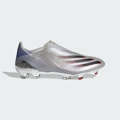 Chaussure X Ghosted+ Terrain souple argent Hommes Soccer