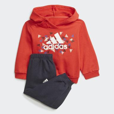 Kinderen Fitness En Training Rood Badge of Sport Graphic Joggingpak